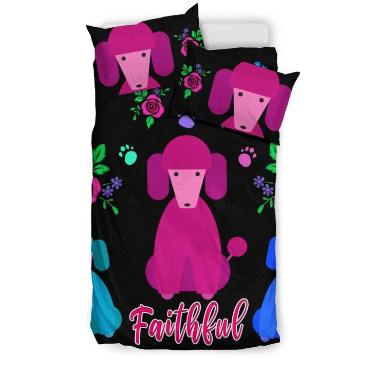 Faithful Poodles Cute Dog Poodle Dogs 3D Customize Bedding Set Duvet Cover SetBedroom Set Bedlinen