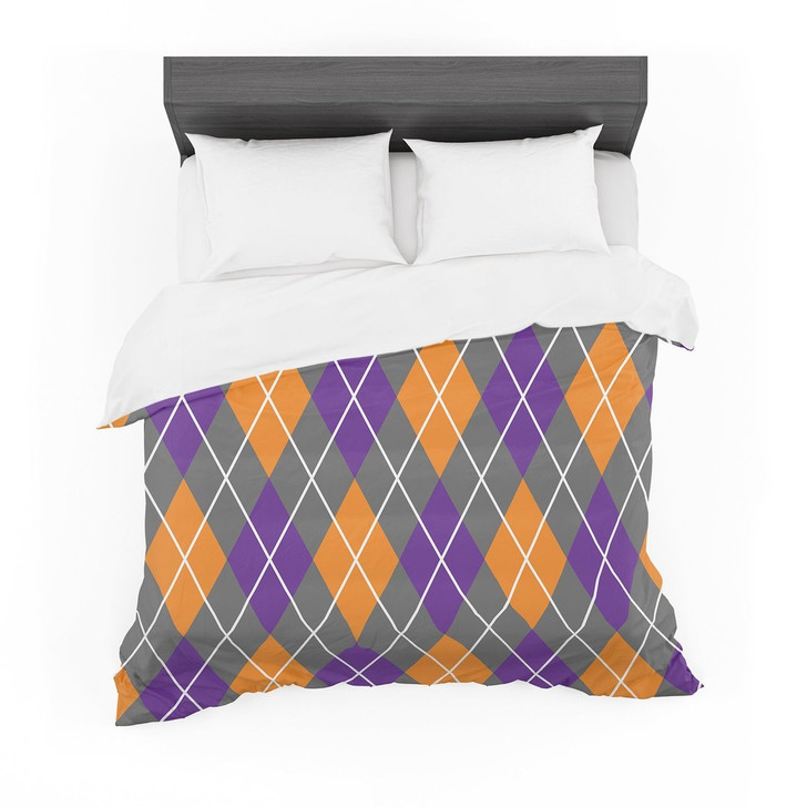 """Argyle  Dusk"" Featherweight3D Customize Bedding Set/ Duvet Cover Set/  Bedroom Set/ Bedlinen"