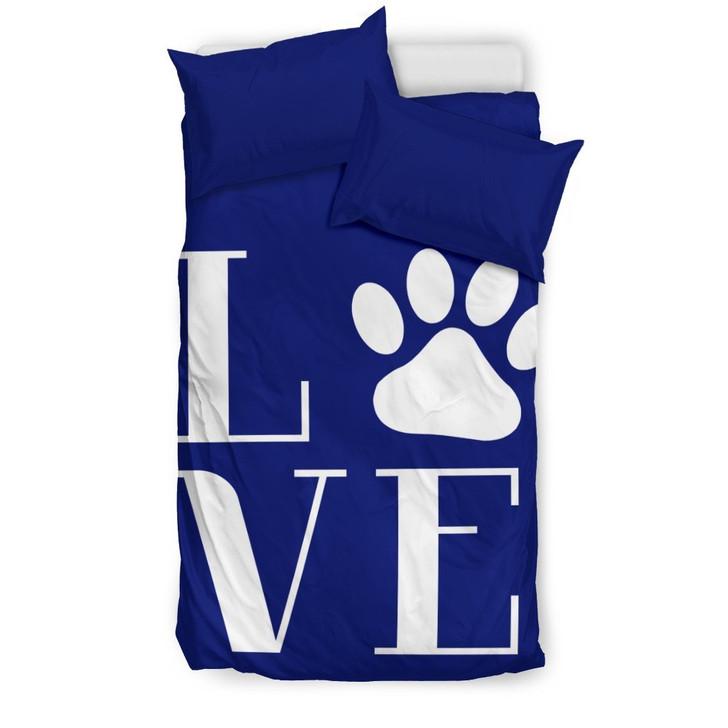 Love Dogs Paw 3D Customize Bedding Set/ Duvet Cover Set/  Bedroom Set/ Bedlinen