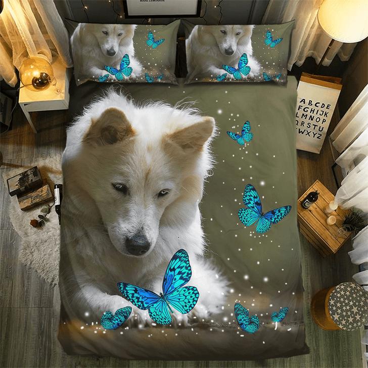 Butterfly And Dog #091933D Customize Bedding Set/ Duvet Cover Set/  Bedroom Set/ Bedlinen