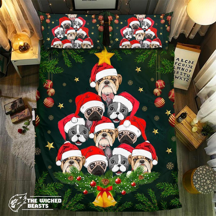 Dog Christmas Collection #0905013D Customize Bedding Set/ Duvet Cover Set/  Bedroom Set/ Bedlinen
