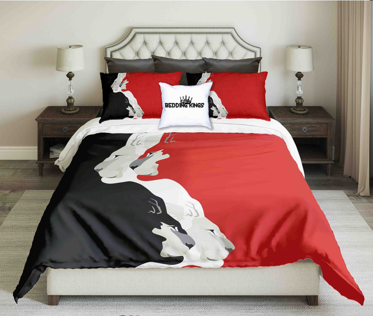 Black Red White Tigers Design  | kings3D Customize Bedding Set/ Duvet Cover Set/  Bedroom Set/ Bedlinen