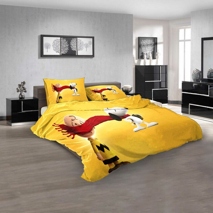 Cartoon Movies The Charlie Brown and Snoopy S N 3D Customized Personalized Bedding Sets Bedding Sets