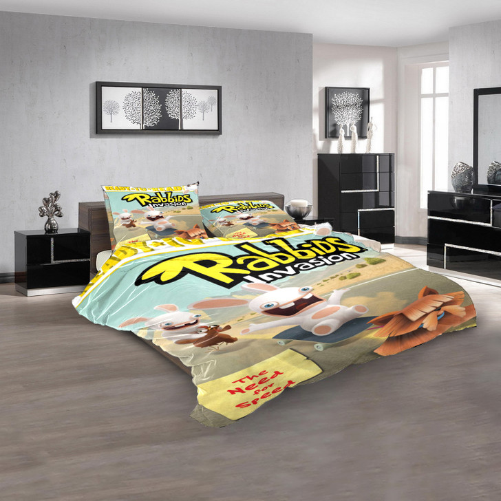 Rabbids Invasion The Need for Speed 3D Customized Personalized Bedding Sets Bedding Sets