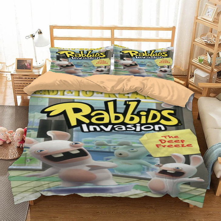 Rabbids Invasion The Deep Freeze 3D Customized Personalized Bedding Sets Bedding Sets