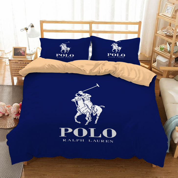 Navy Blue Luxury Brand POLO ASSASSIN 3D Customized Personalized Bedding Sets Bedding Sets