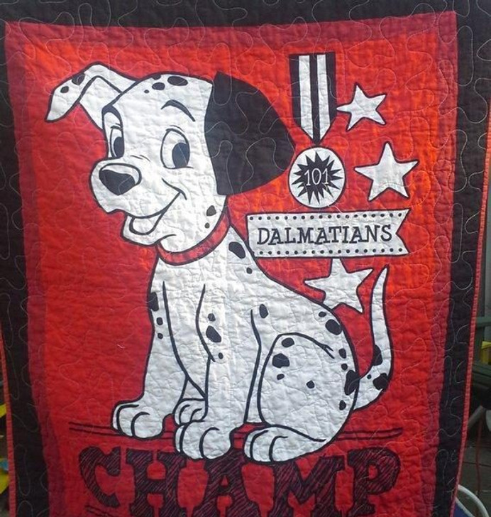 101 Dalmatians Red Fabric 3d Quilt Blanket Design By Dalabshop.com