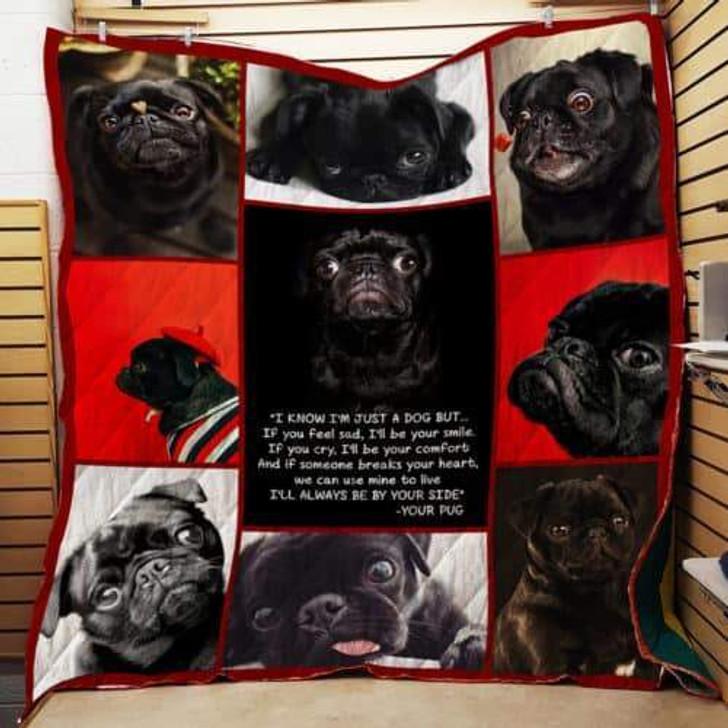 Pug I Love You Quilt Blanket P230 Pd Design By Dalabshop.com