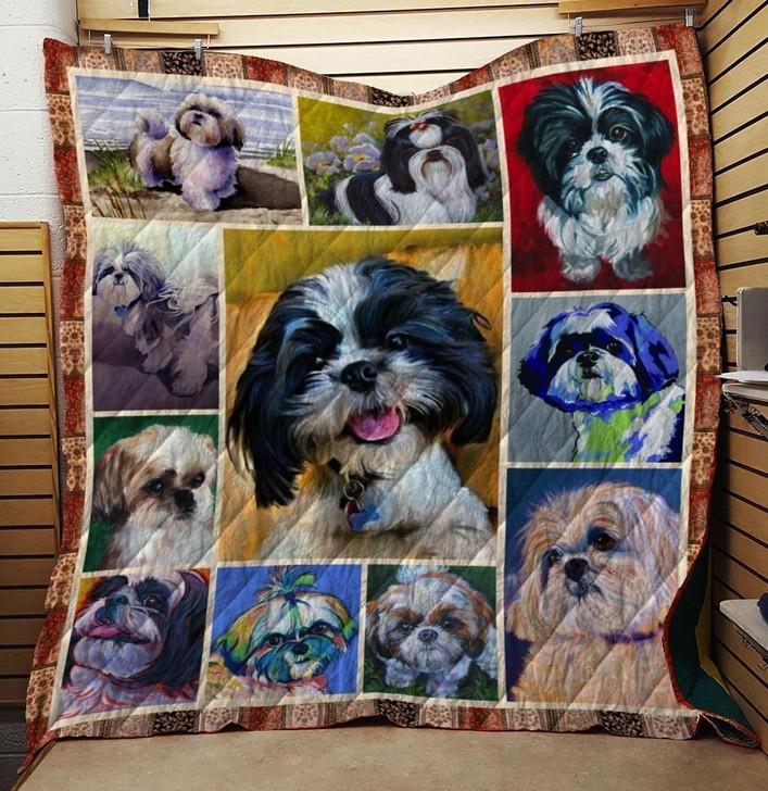 Shih Tzu Dog Quilt Blanket Design By Dalabshop.com