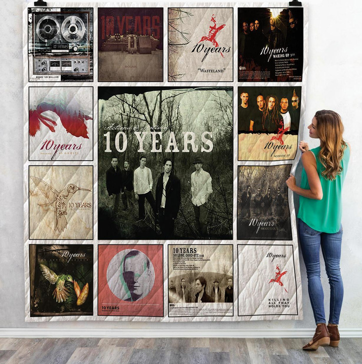 10 Years Singles Albums Quilt Blanket 02 on Sale Now Design By Dalabshop.com