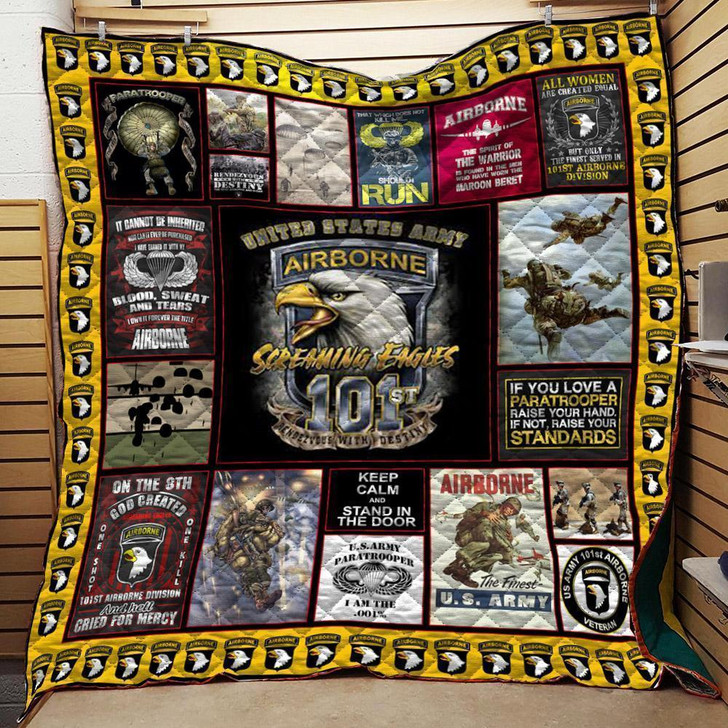 101st Airborne Veteran Quilt On Sale! Design By Dalabshop.com