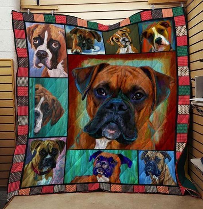 BOXER DOG QUILT BLANKET On Sale! Design By Dalabshop.com
