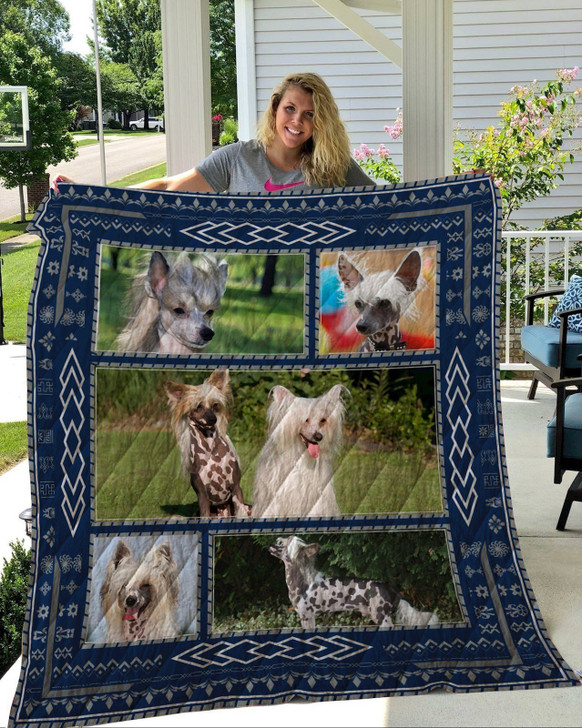 Chinese Crested Dog Quilt On Sale! Design By Dalabshop.com