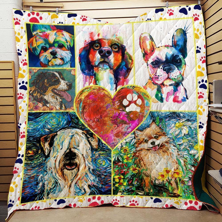 Dog Lovers Quilt on Sale Now Design By Dalabshop.com