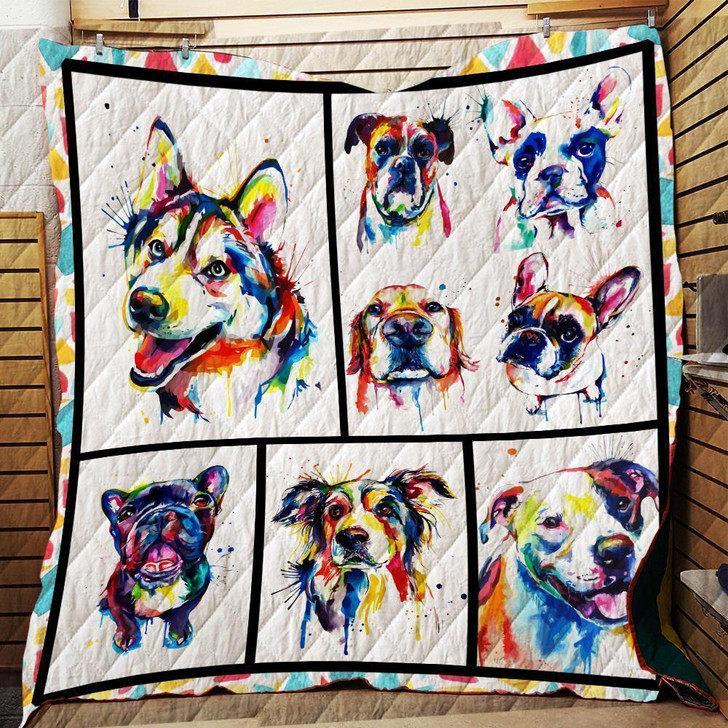 Dogs - Quilt on Sale Now Design By Dalabshop.com