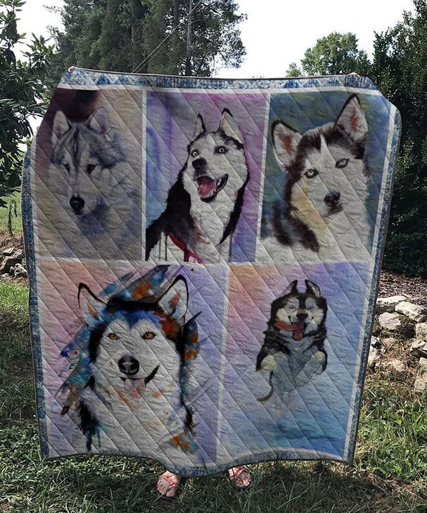 Husky Dog 3 Quilt On Sale! Design By Dalabshop.com