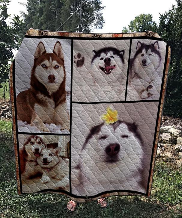Husky Dog 4 Quilt On Sale! Design By Dalabshop.com