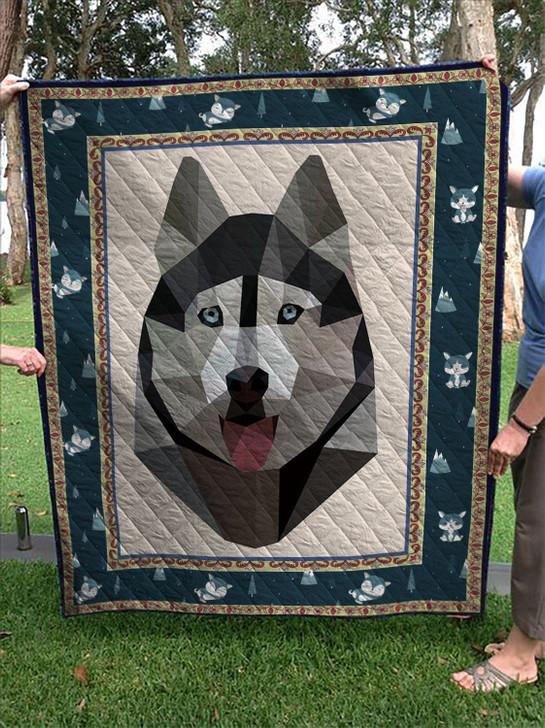 Husky Dog Quilt On Sale! Design By Dalabshop.com