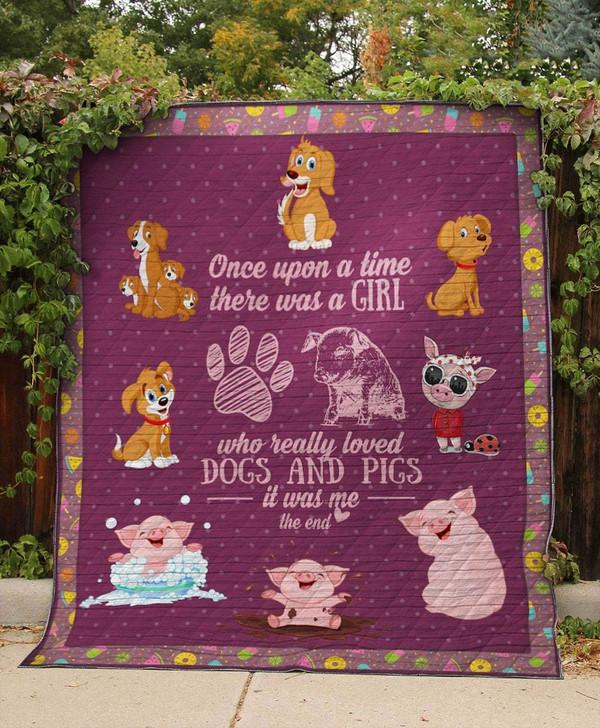 PIG & DOG quilt On Sale! Design By Dalabshop.com