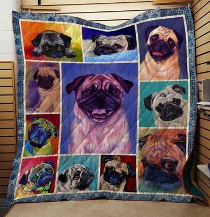 Pug Dog Quilt Blanket on Sale Now Design By Dalabshop.com