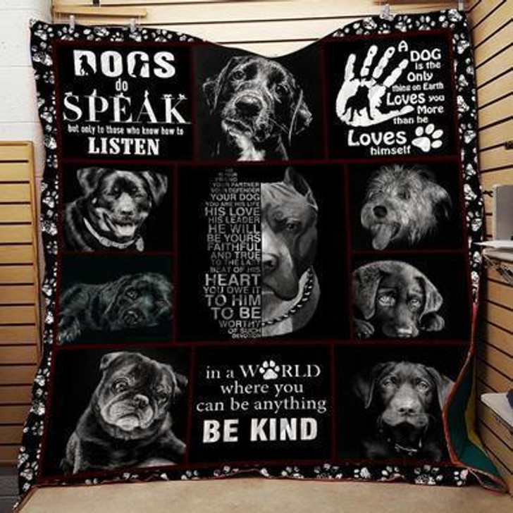 Save The Dog Quilt on Sale Now Design By Dalabshop.com