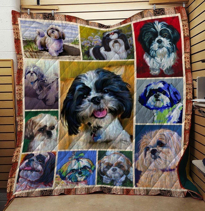 Shih Tzu Dog Quilt Blanket on Sale Now Design By Dalabshop.com
