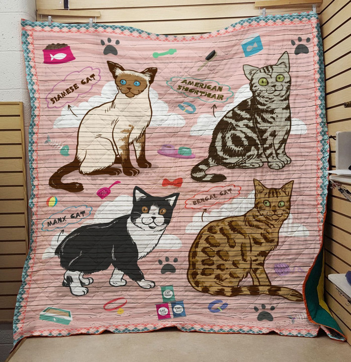 Stamese cat quilt On Sale! Design By Dalabshop.com