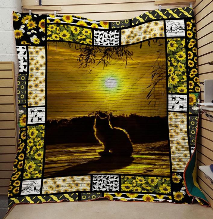 Sun cat quilt On Sale! Design By Dalabshop.com