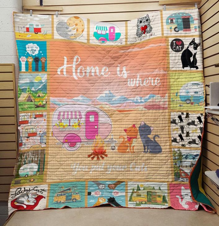 VB Cat quilt On Sale! Design By Dalabshop.com