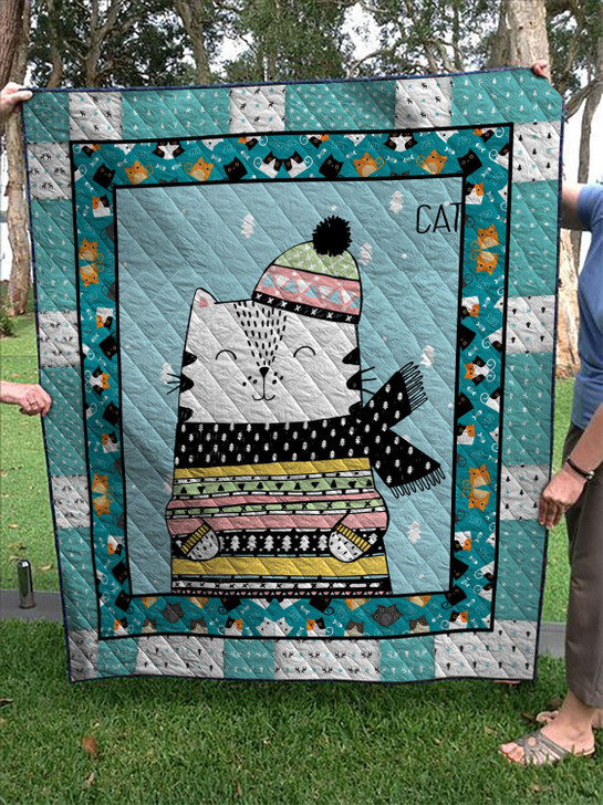 Winter of cats 1 quilt On Sale! Design By Dalabshop.com