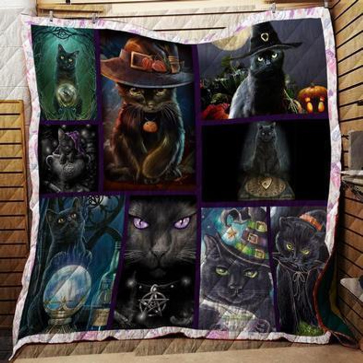 Witch Cat Quilt on Sale Now Design By Dalabshop.com