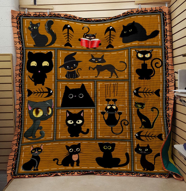 Witch cat quilt On Sale! Design By Dalabshop.com
