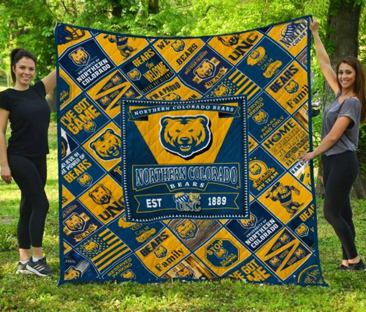 NCAA Northern Colorado Bears 3D Customized Personalized Quilt Blanket #1515 Design By Dalabshop.com