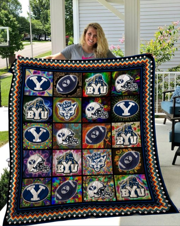 NCAA BYU Cougars 3D Customized Personalized Quilt Blanket #1631 Design By Dalabshop.com