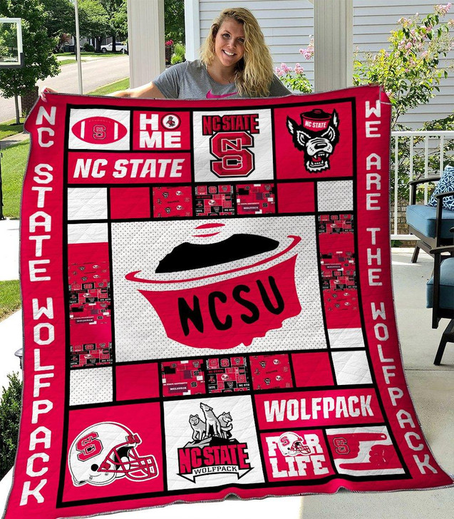 NCAA NC State Wolfpack 3D Customized Personalized Quilt Blanket #1632 Design By Dalabshop.com