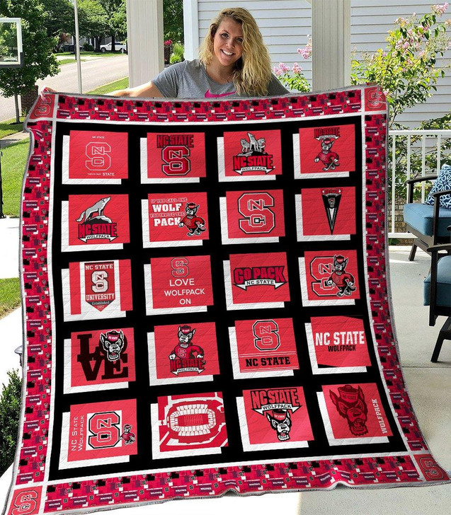 NCAA NC State Wolfpack 3D Customized Personalized Quilt Blanket #1633 Design By Dalabshop.com
