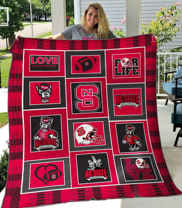 NCAA NC State Wolfpack 3D Customized Personalized Quilt Blanket #1636 Design By Dalabshop.com