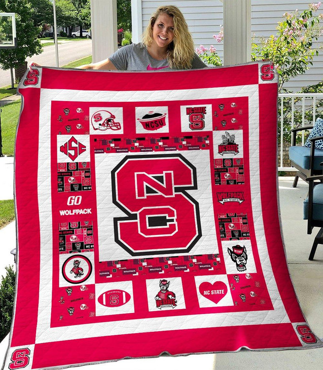 NCAA NC State Wolfpack 3D Customized Personalized Quilt Blanket #1637 Design By Dalabshop.com