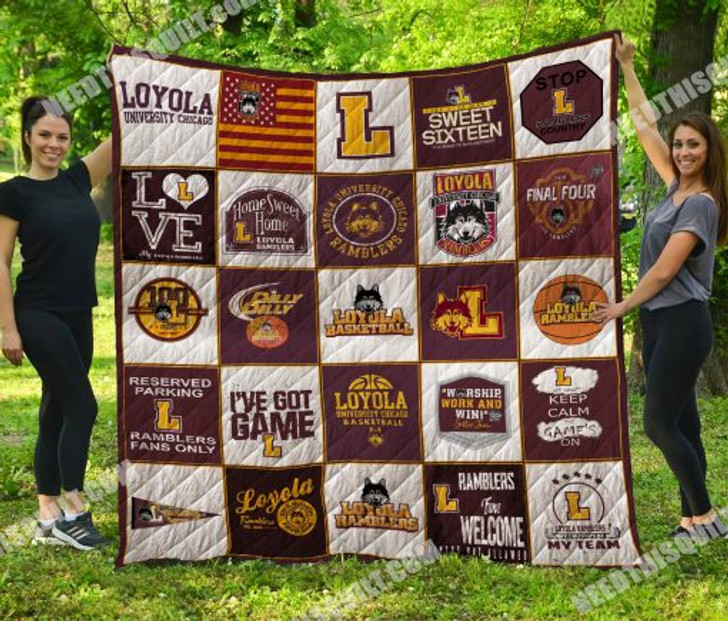 NCAA Loyola (Chi) Ramblers 3D Customized Personalized Quilt Blanket #1640 Design By Dalabshop.com
