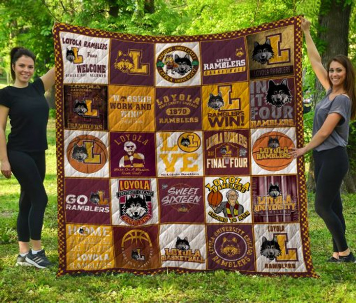 NCAA Loyola (Chi) Ramblers 3D Customized Personalized Quilt Blanket #1641 Design By Dalabshop.com