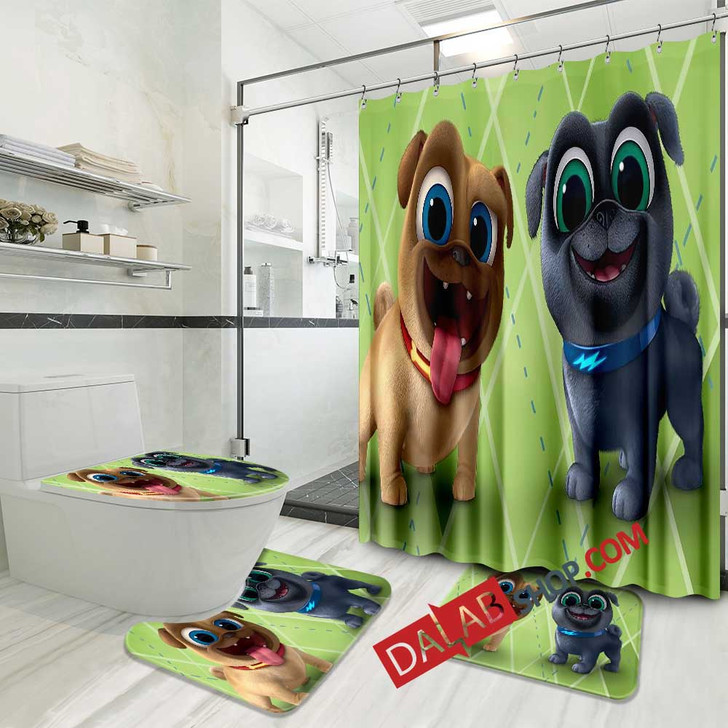 Cartoon Movies Puppy Dog Pals N 3D Customized Personalized Bathroom Sets