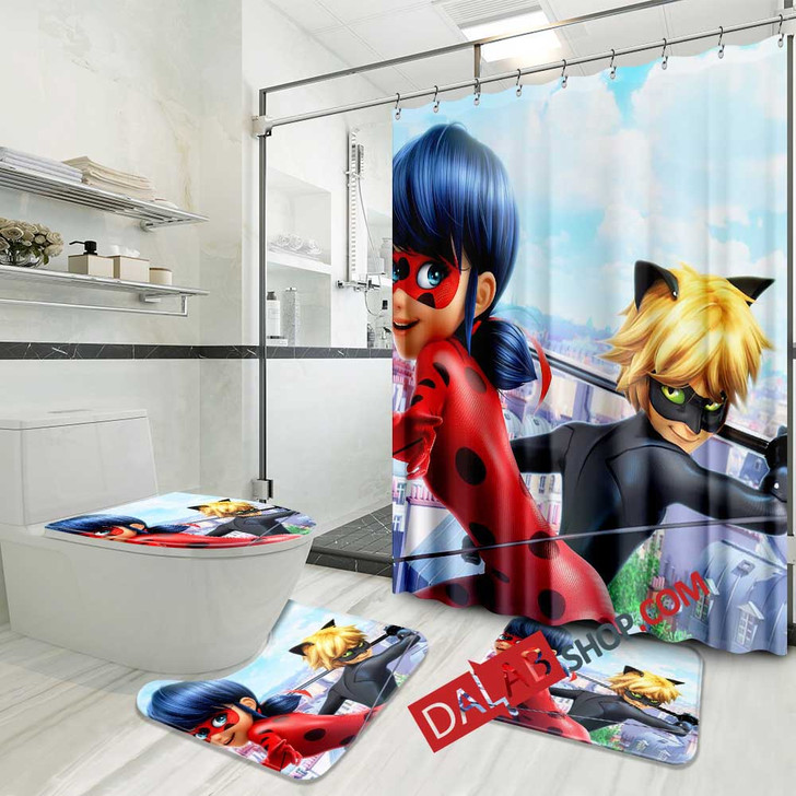Movie A Christmas Special Miraculous Tales of Ladybug & Cat Noir  V 3D Customized Personalized Bathroom Sets
