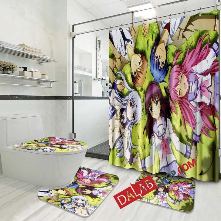 Cartoon Movies Angel Beats! N 3D Customized Personalized Bathroom Sets
