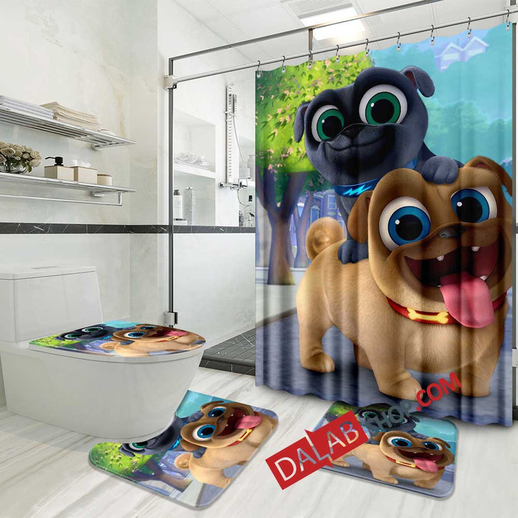 Cartoon Movies Puppy Dog Pals D 3D Customized Personalized Bathroom Sets