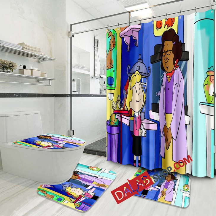 Cartoon Movies Clifford's Puppy Days n 3D Customized Personalized Bathroom Sets