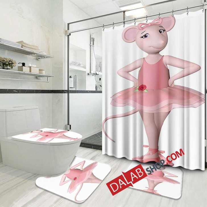 Cartoon Movies Angelina Ballerina D 3D Customized Personalized Bathroom Sets