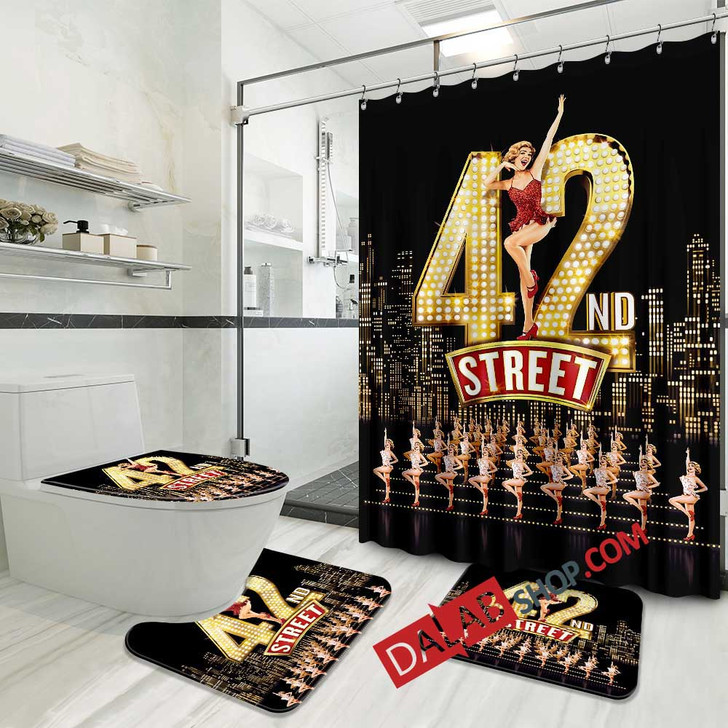 42nd Street Broadway Show D 3D Customized Personalized Bathroom Sets