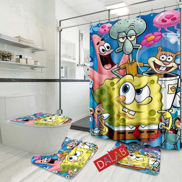 Cartoon Movies SpongeBob SquarePants D 3D Customized Personalized Bathroom Sets
