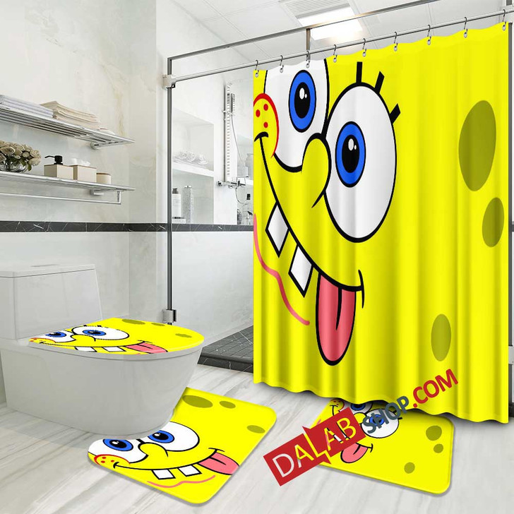 Cartoon Movies SpongeBob SquarePants N 3D Customized Personalized Bathroom Sets