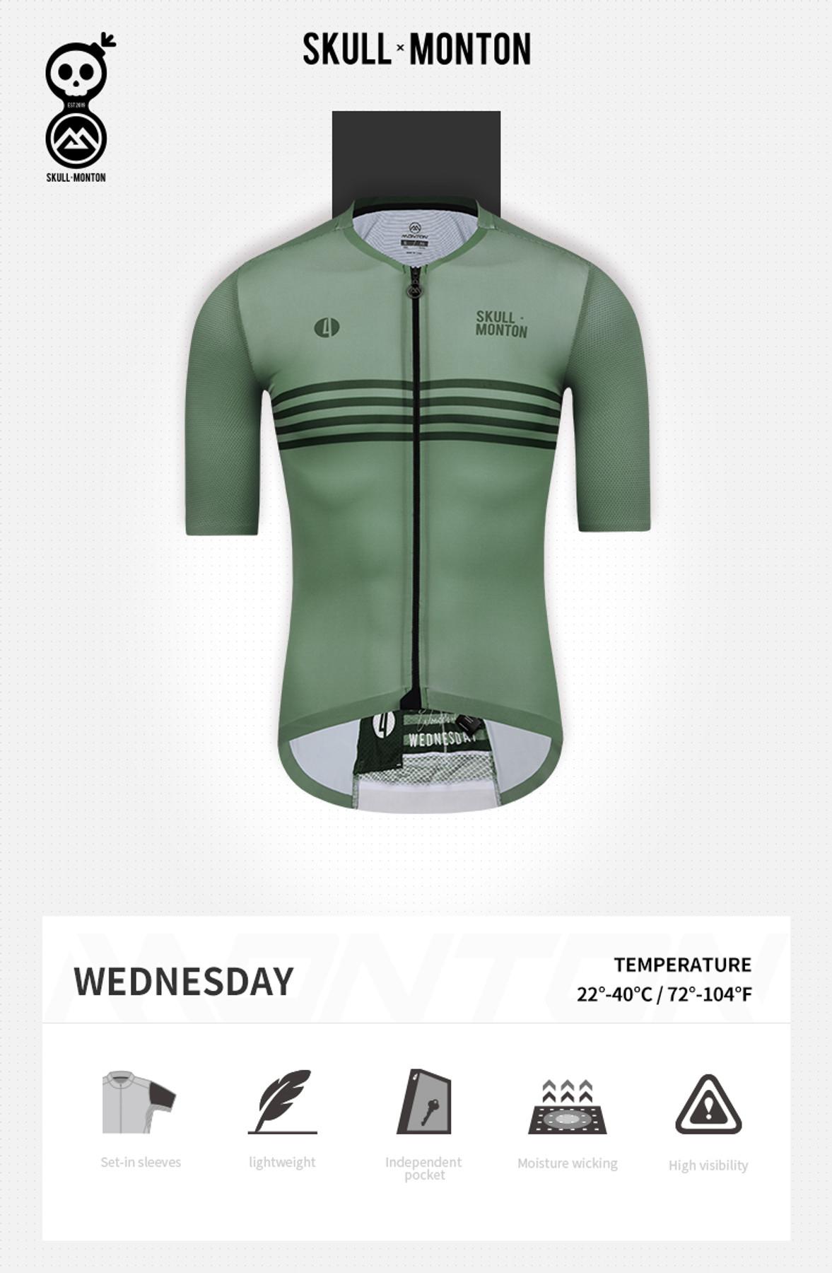 Monton hommes cyclisme jersey mercredi graygreen